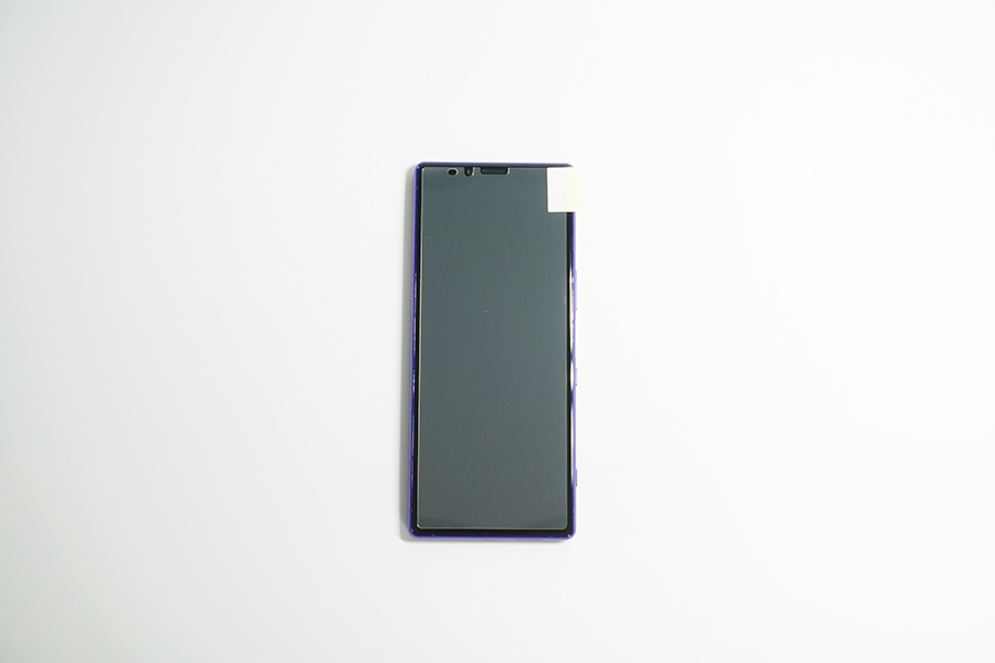 Xperia1の保護フィルムをサイズチェック