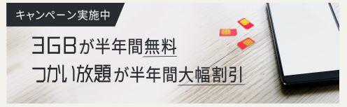 【今だけ!】DTI SIM、 「どっちもおトク!キャンペーン」は6月30日まで!3GBは半年間0円、つかい放題は半年間半額