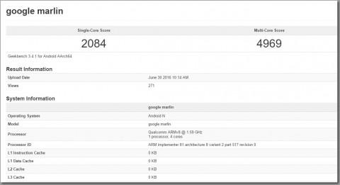 『Google Marlin』ベンチマークスコア?「Nexus 6P」を上回るスコアを記録