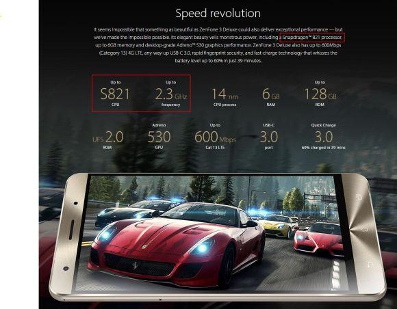 Asus、『Zenfone 3 Delux』のスペック変更確定!?「スナドラ821」搭載へ