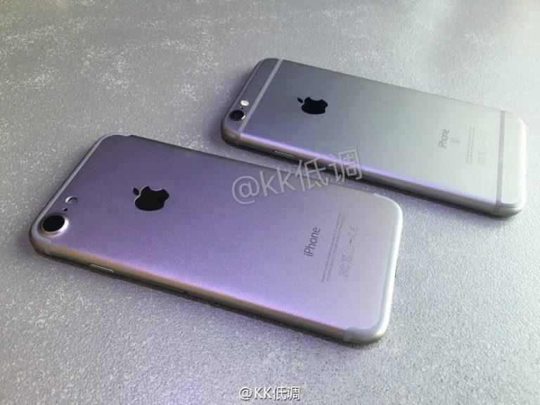 「iPhone 7」のモックアップ画像?-「iPhone 6s」との比較画像