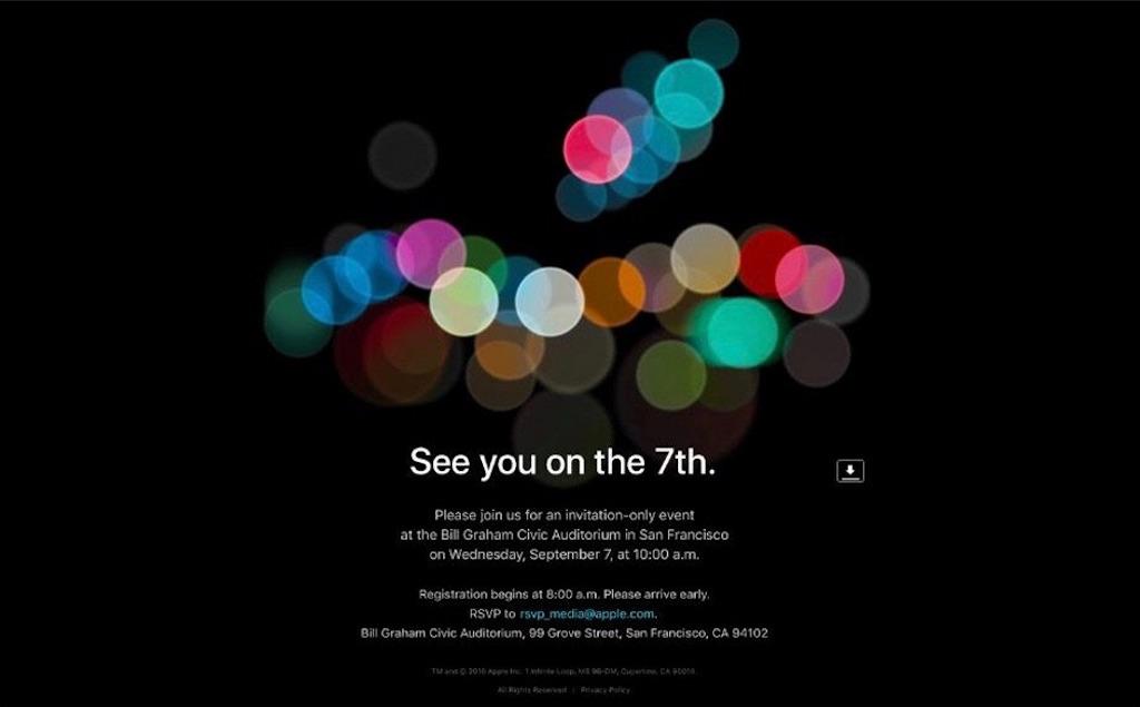 アップル、「iPhone 7」の発表イベントを9月7日に開催!ー「Apple Watch 2」「MacBook Pro 2016年モデル」も同時に登場?