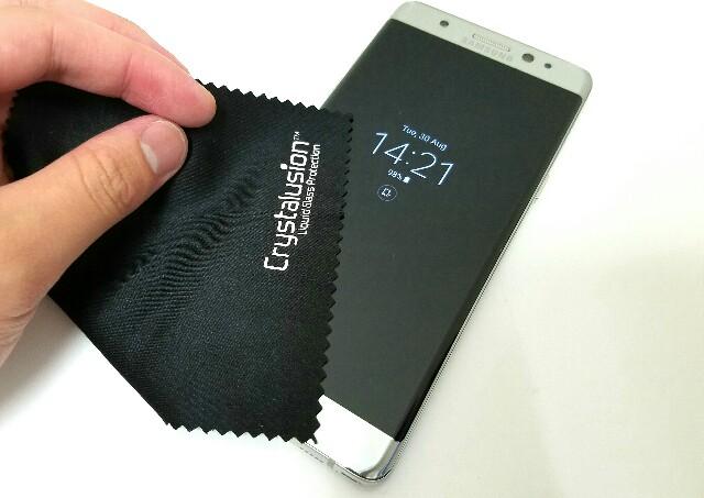 保護フィルムの約6倍の耐久性「Crystalusion液晶画面コーティング剤」がお勧め!ー「Galaxy Note7」&「ZenFone 3」に試してみた!