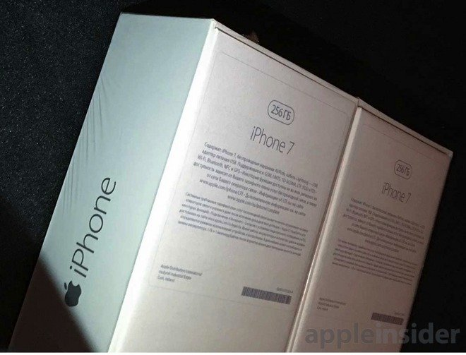 「iPhone7」256GBモデルのパッケージ写真が流出!-ロシア版?
