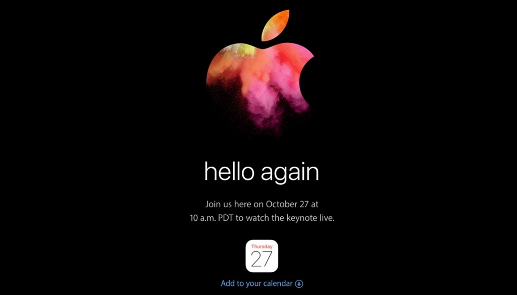 Appleの新型Mac発表会スペシャルイベント「hello again」の壁紙が公開中!