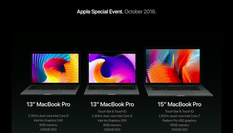 「MacBook Pro 13インチ」モデルに「Touch Bar」無しモデルが存在!ー「MacBook Air」的な位置取りに