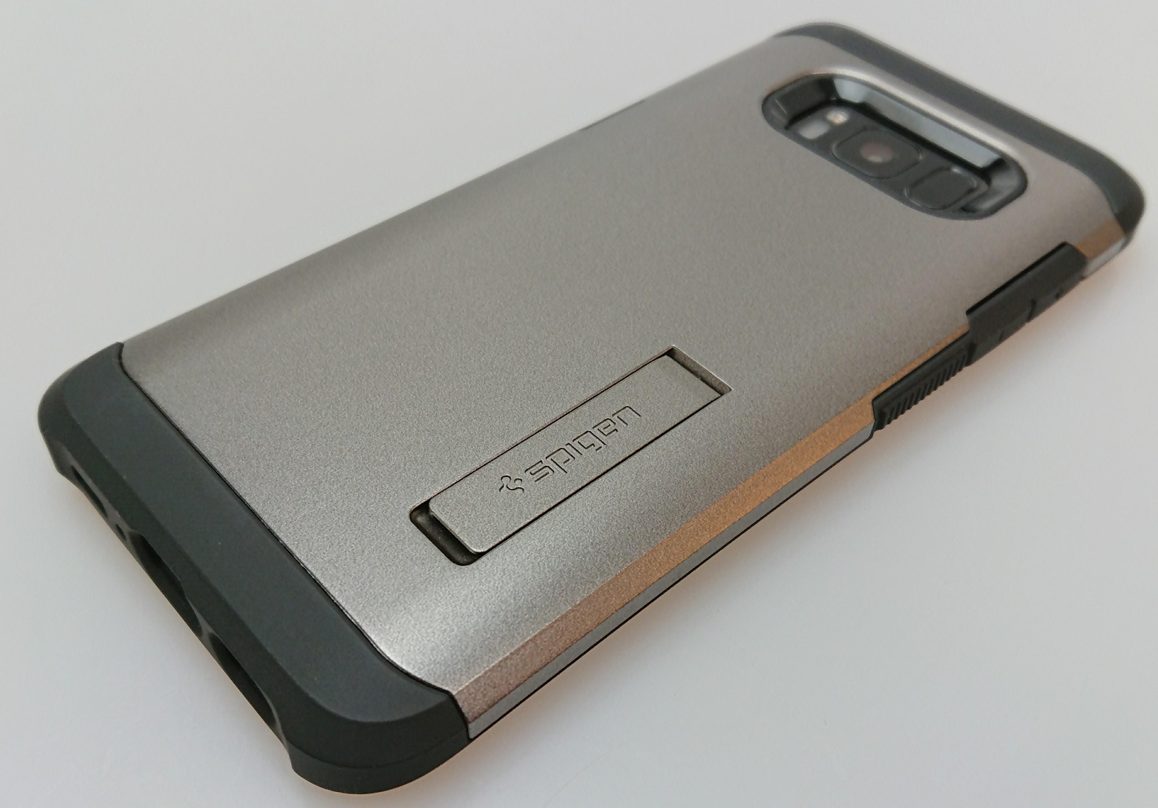 『Galaxy S8』に最適な本当は教えたくない最高のオススメケースはコレだ!Spigen タフ・アーマーは圧巻の使い心地と安心感ある衝撃吸収