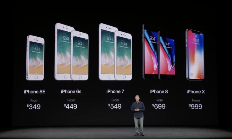 アップル、新製品「iPhoneX / iPhone8 / iPhone8Plus」を公式発表!iPhoneXは5.8インチ有機ELディスプレイ、FaceID(顔認証)を搭載へ!