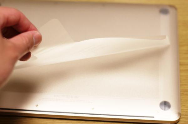 MacBookシリーズも透明のフィルム