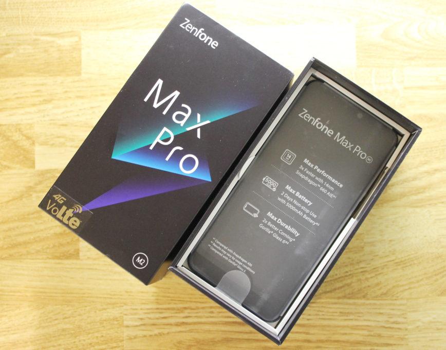 ASUS ZenFone Max Pro (M2)の開封後