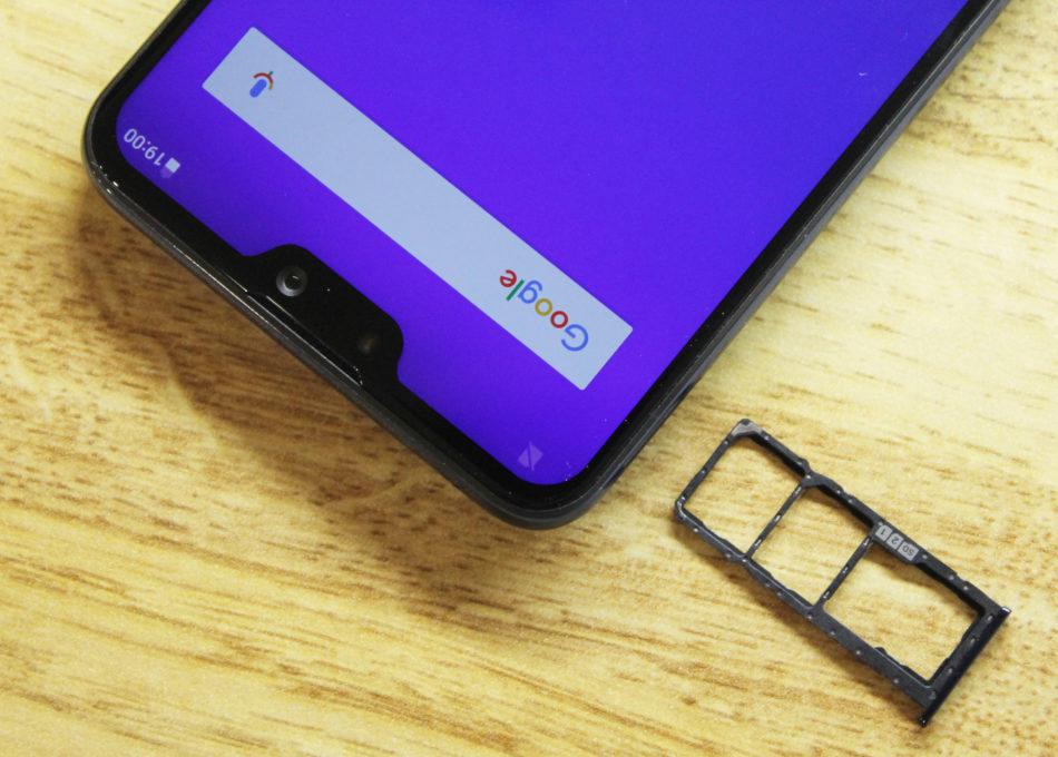 ASUS ZenFone Max Pro (M2)のSIMトレイ