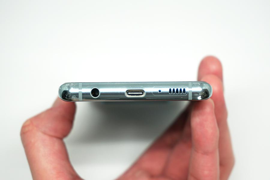 Galaxy S10の側面下部