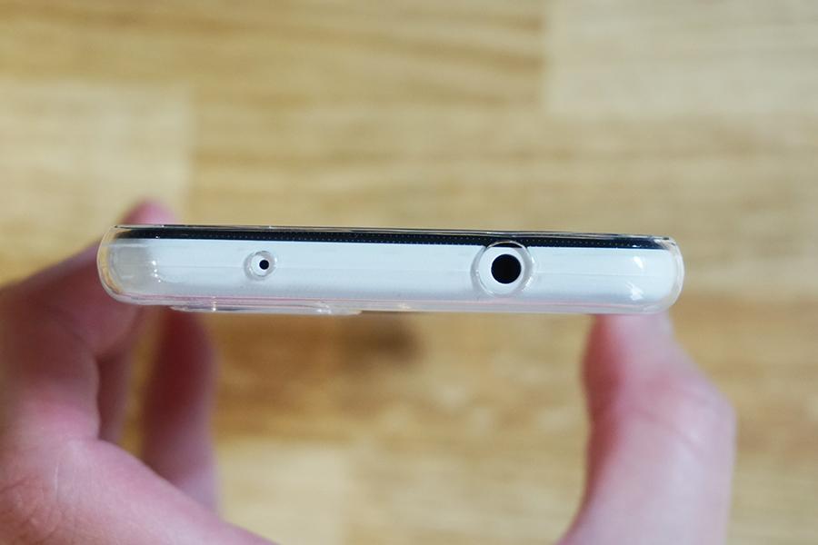 Google Pixel 3aにA-VIDET保護ケースを付けた側面上部