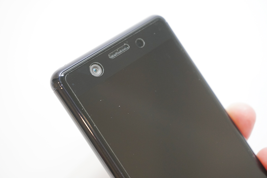 XperAce SO-02Lに保護フィルム上部