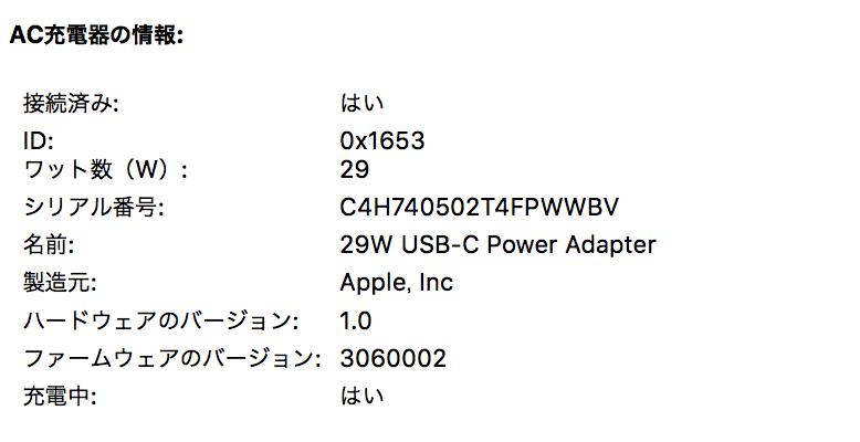 Apple純正アダプタ29W