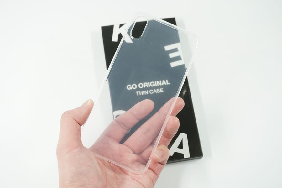 Go Original iPhone XS Max用極薄スリムケースを取り出してみた