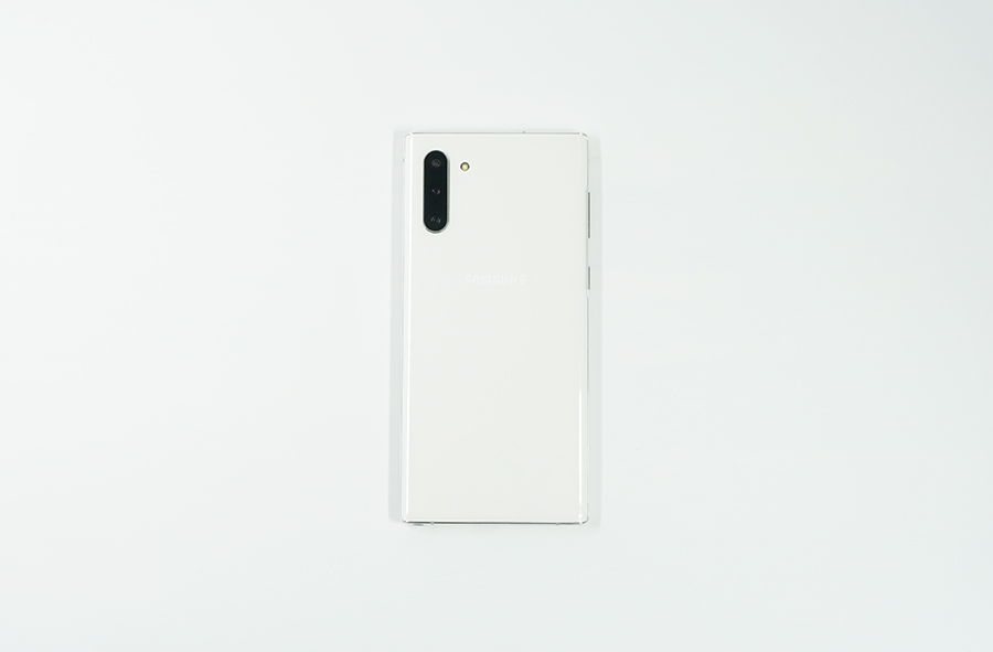 Galaxy Note10の背面デザイン