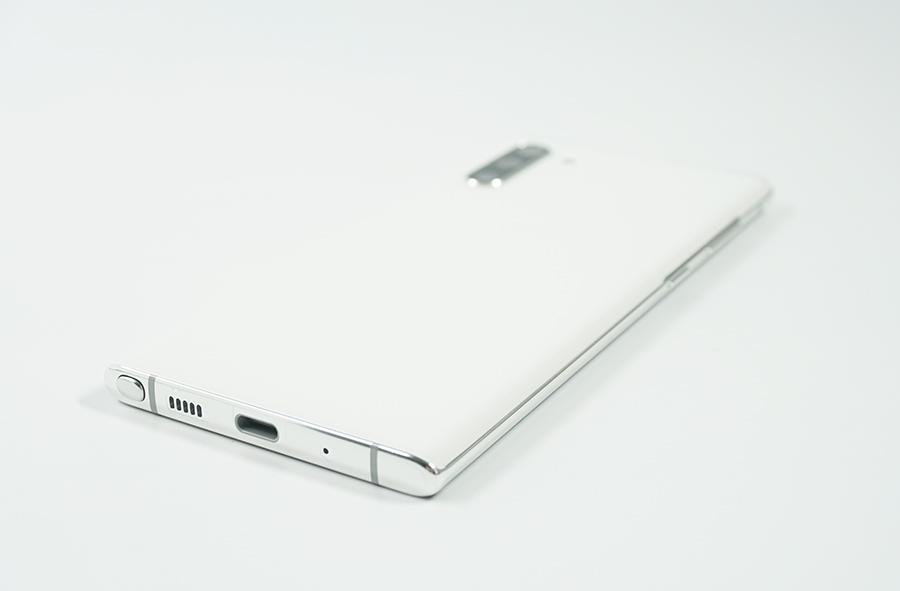 Galaxy Note10の背面下部デザイン