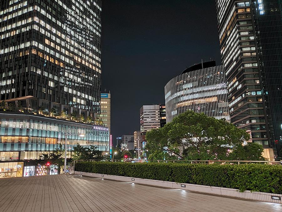 Galaxy Note10+で撮影した名古屋駅の夜景