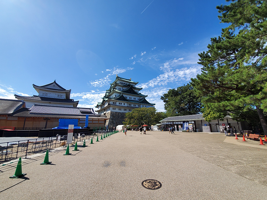 Galaxy Note10の超広角で撮影した名古屋城