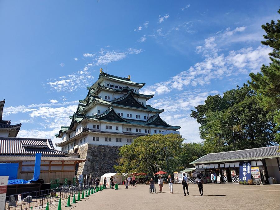 Galaxy Note10Plusの広角で撮影した名古屋城