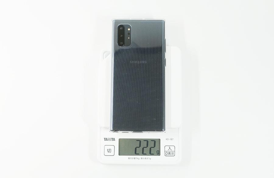 Galaxy Note10+の重さ(カバーあり)
