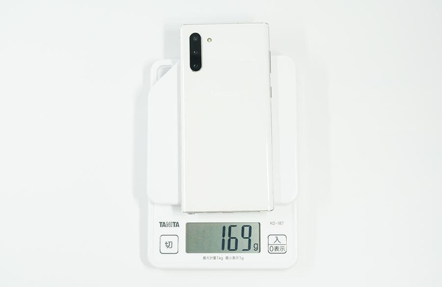 Galaxy Note10の重さ