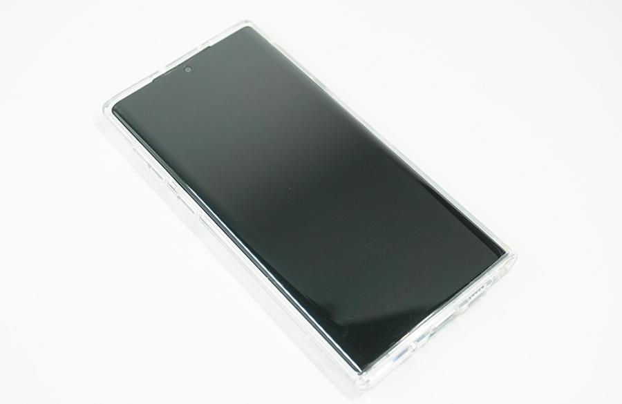 Spigen Galaxy Note10用ウルトラ・ハイブリッドを付けてみた表