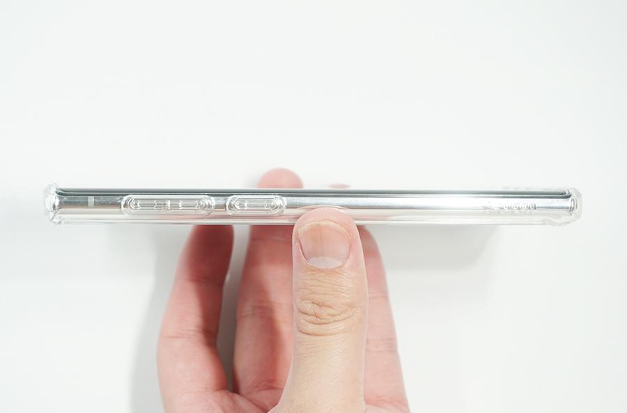 Spigen Galaxy Note10用ウルトラ・ハイブリッド側面左