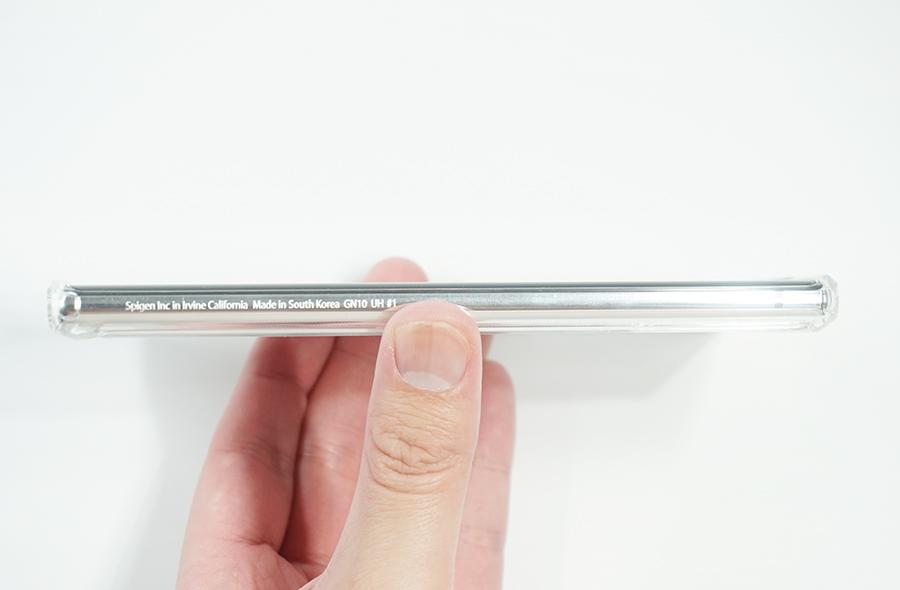 Spigen Galaxy Note10用ウルトラ・ハイブリッド側面右