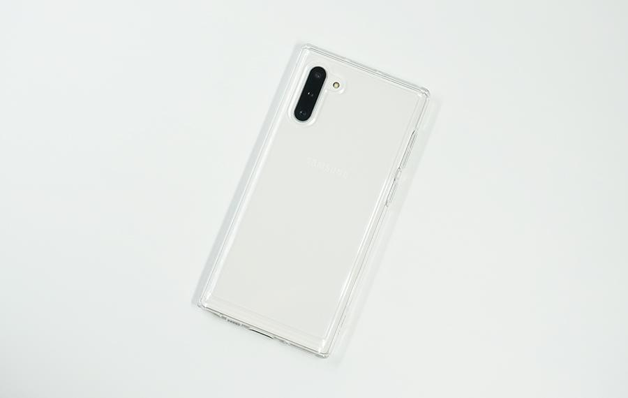 Spigen Galaxy Note10用ウルトラ・ハイブリッドを付けてみた裏