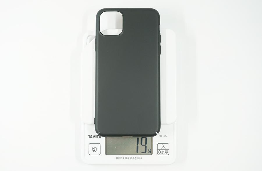 iPhone 11 Pro Max用ブラックバードケースは約19g
