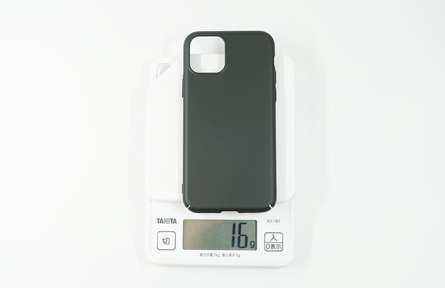 iPhone 11 Pro用ブラックバードケースは約16g