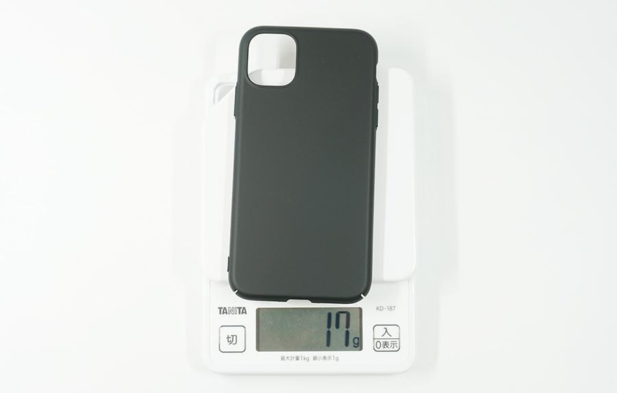 iPhone 11用ブラックバードケースは約17g
