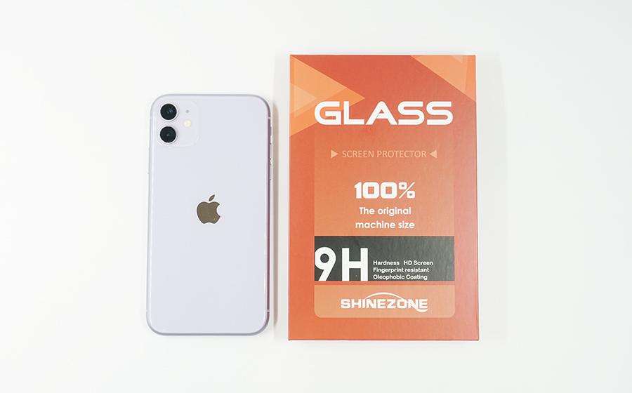 SHINEZONE ガラスフイルムとiPhone 11