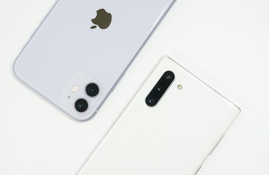 iPhone 11とGalaxy Note10をカメラ比較