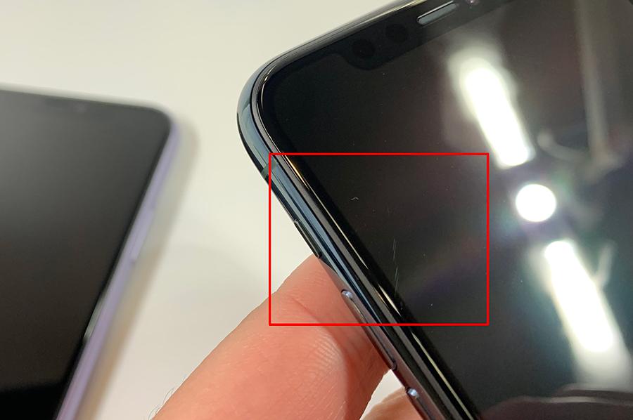 iPhone 11 Proのディスプレイ傷