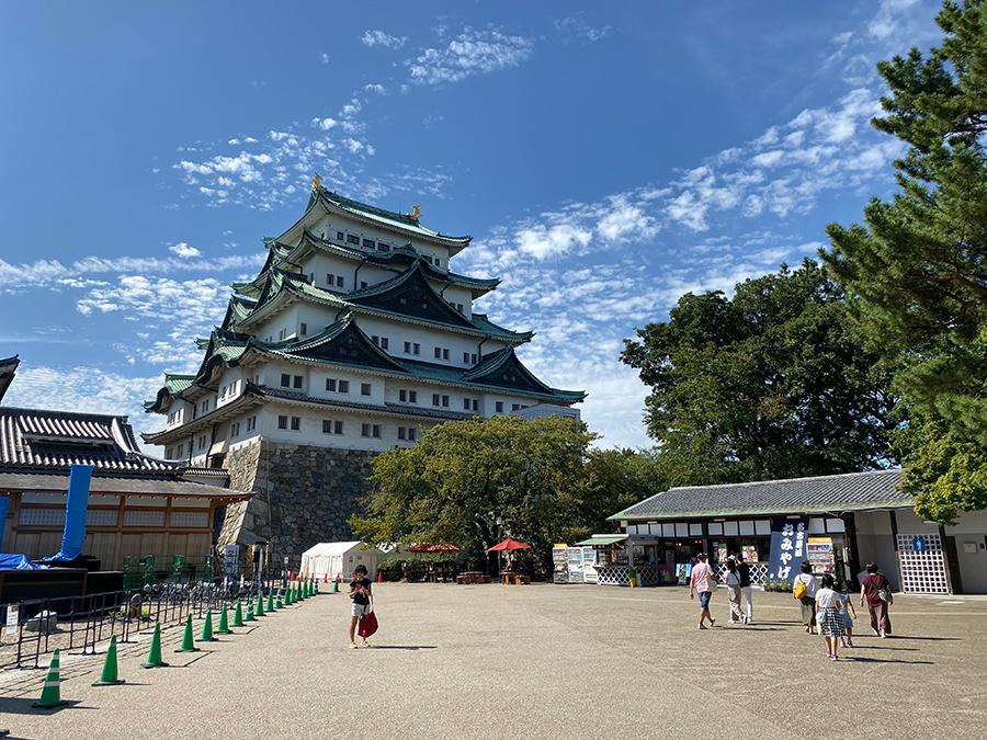 iPhone 11 Proの広角で撮影した名古屋城