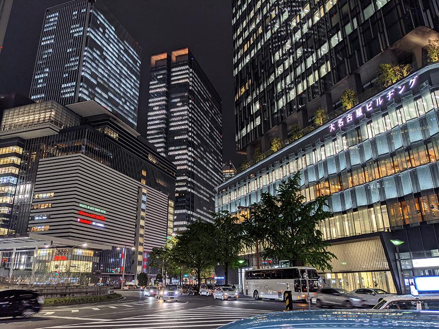 Pixel 4の夜景撮影名古屋駅