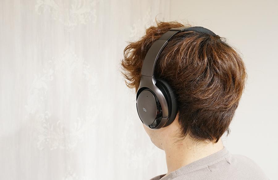 耳をすっぽり覆ってくれるので自分の世界に入り込める