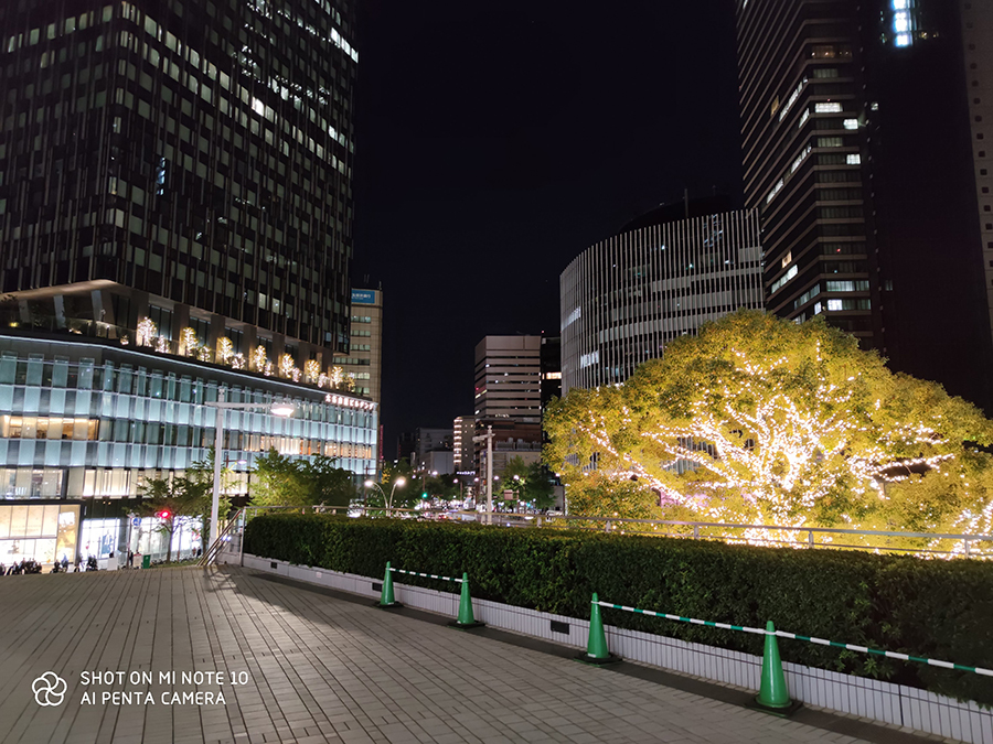 MiNote10名駅夜景