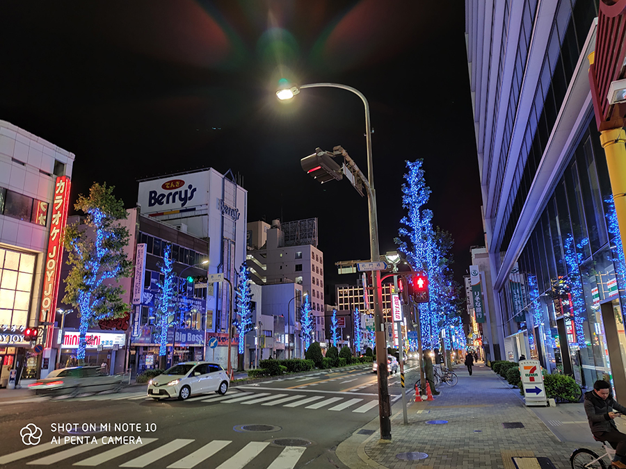 MiNote10夜景