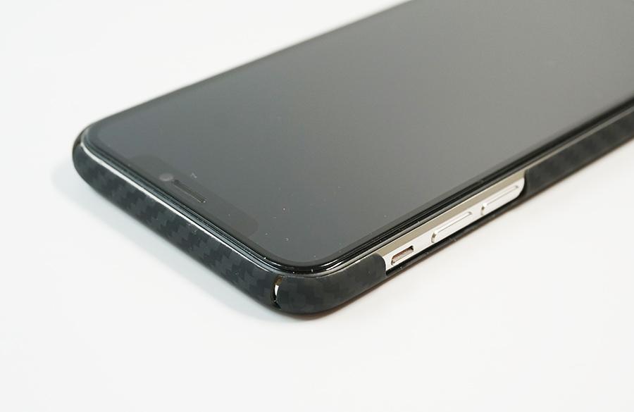 iPhone側面にあるボタン類の保護はされていない