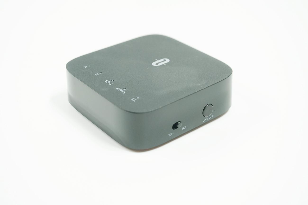 送信モード(TX)と受信モード(RX)の切り替えボタン、電源ボタン