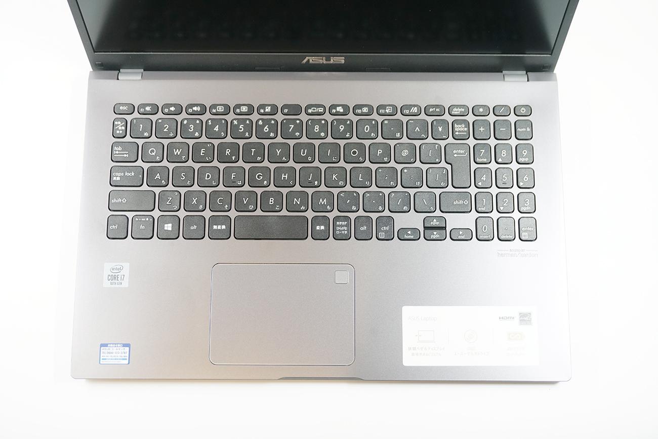 ASUS X545FAのキーボード