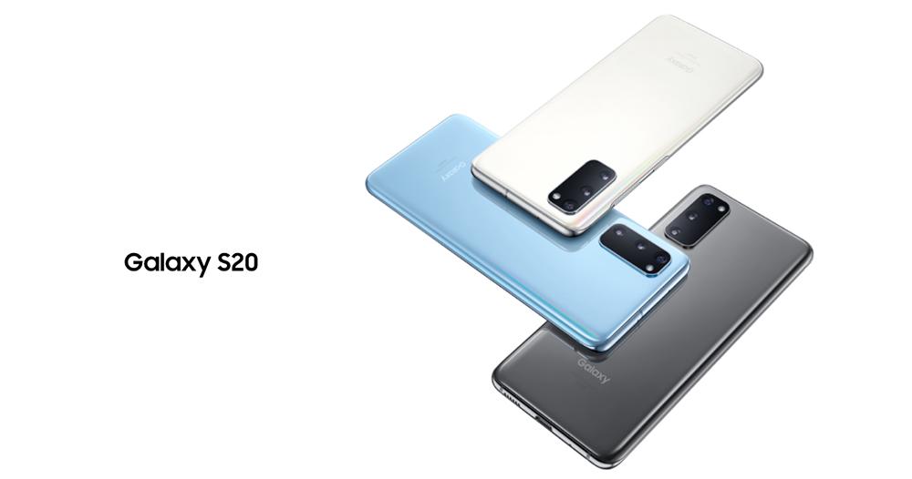 Galaxy S20のカラーラインナップ
