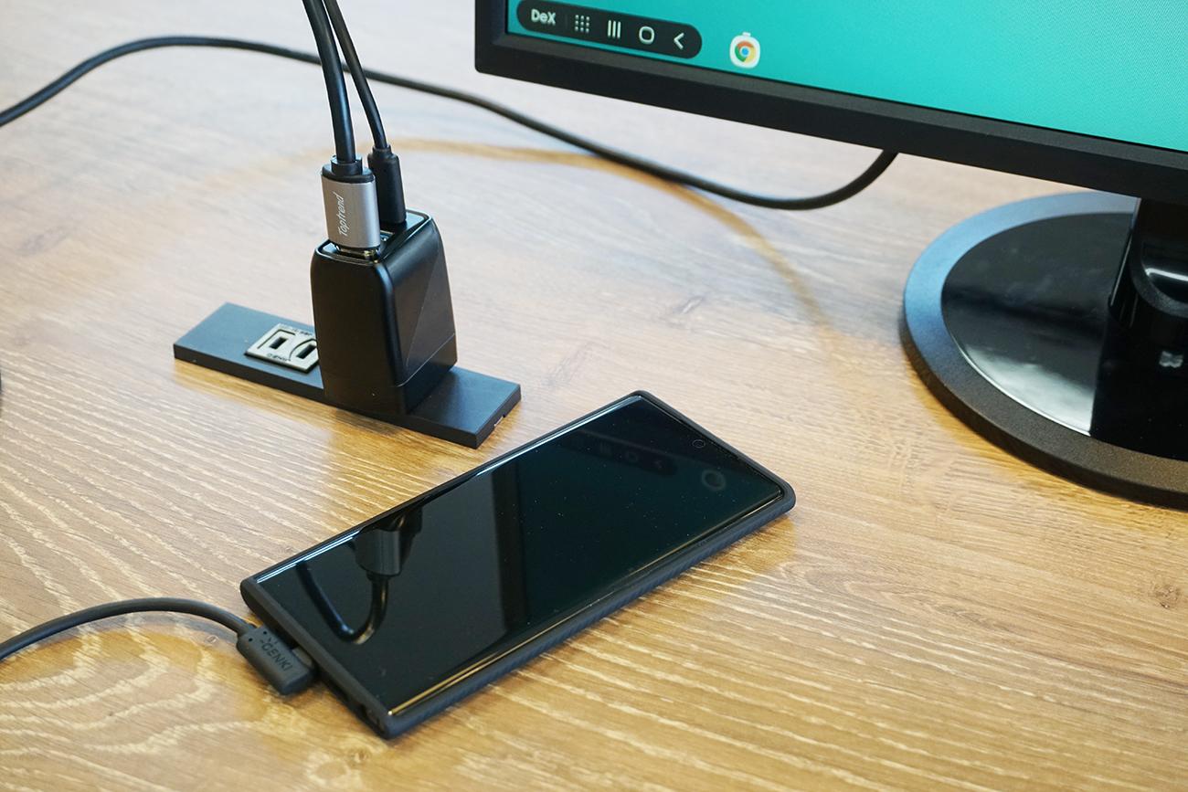 デバイスの充電器としても便利