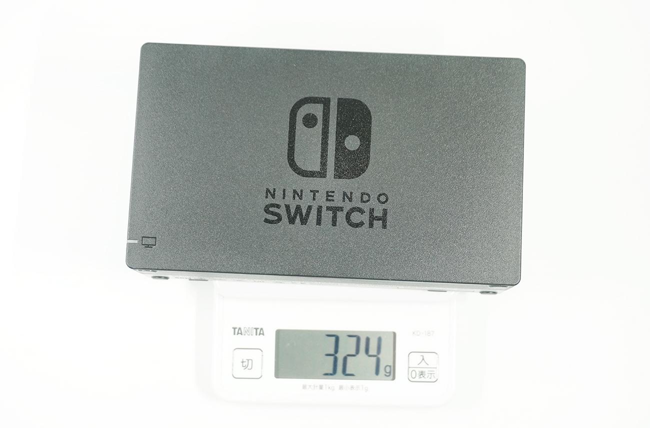 純正のNintendo Switchドック重さ
