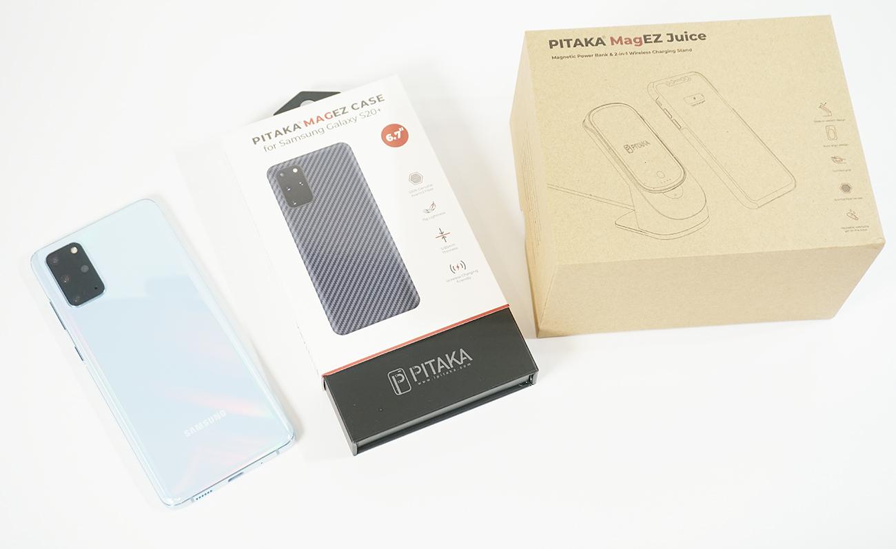 Galaxy S20+用アラミド繊維ケース「PITAKA MagEZ Case」×ワイヤレス充電器「MagEZ Juice」を試す