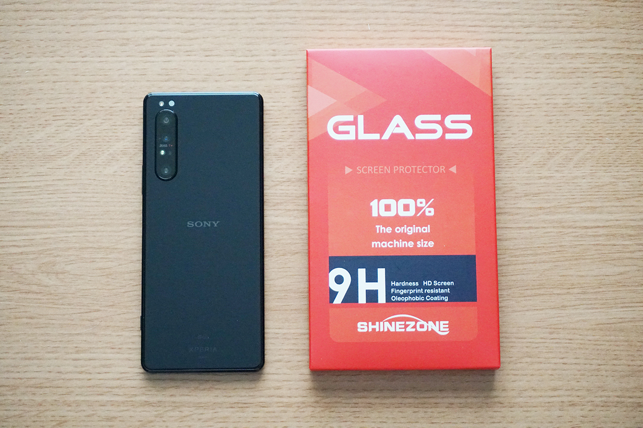 SHINEZONE SONY Xperia 1 II ガラスフイルムを試す